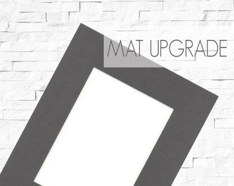 Upgrade: Add a Mat to 8x10 Prints, Photo Print Mat, Mat with Backer Board