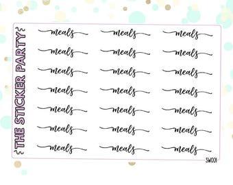 Meals Script Stickers Meals Headers