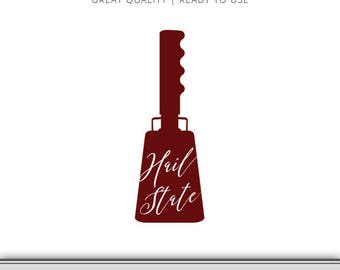 Hail State Cow Bell Mississippi State Bulldogs Graphic - Digital Download - SVG file - Cut Files - Mississippi SVG - Ready to Use!