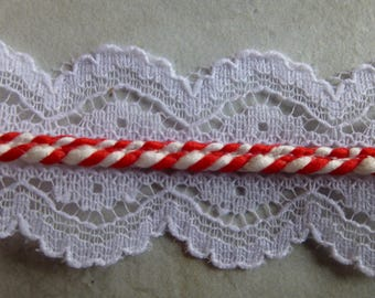 Red and White Candy Cane Lace