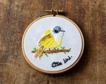 Embroidery - little bird