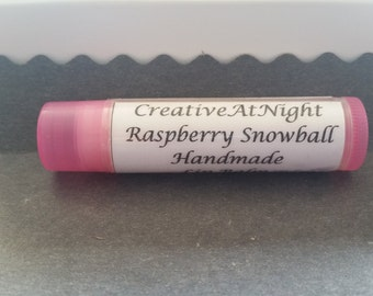 Raspberry Snowball Lip Balm
