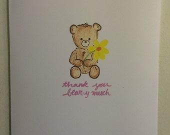 Thank You Bear-y Much Card