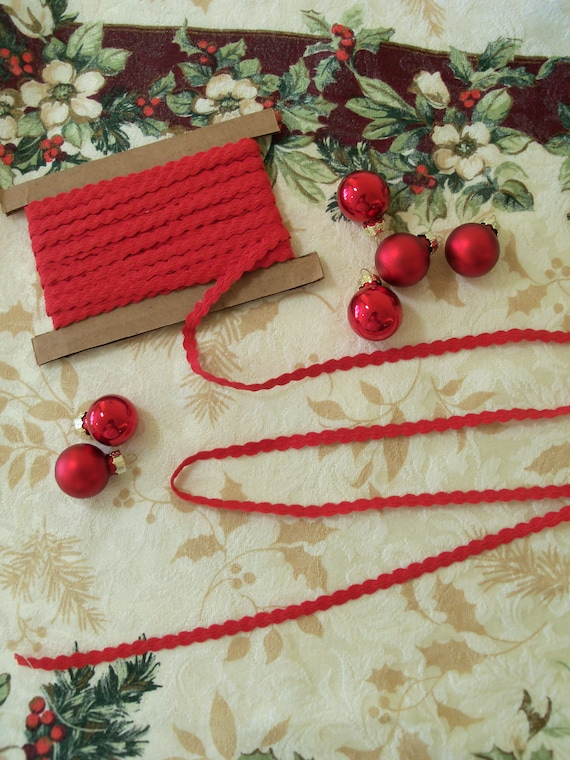 5 Yards of Red Flat Trim / Perfect Width Trims for  Doll Clothes