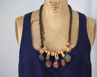Vintage Javanese Mask Necklace