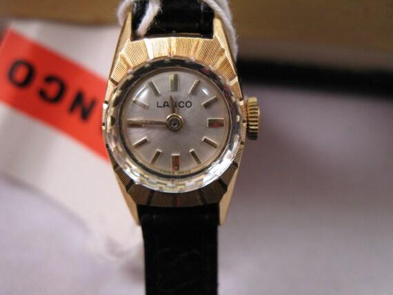 LANCO Vintage Swiss Watch - Ellegant Ladies Wristwatch - New in Box with tags - 1970's
