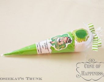 """Surprise Ball Irish Dance Gift Vintage """"Cone of Happiness"""" Party Favor Vintage Treat"""