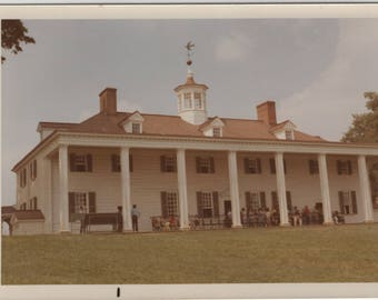 Mount Vernon Home of George Washington Virginia VA - Vintage Vacation Photo Snapshot - 1970s