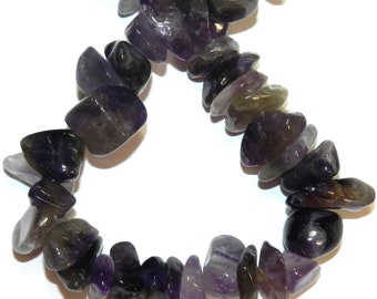 NG1254 Purple Amethyst Large 8mm - 16mm Polished Gemstone Chip Nugget Beads 16-inch Strand