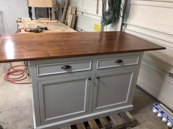 Kitchen Island With Seating On 3 Sides Large Finished Maple