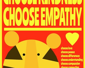 kindness 2   Art Print by Giraffes and Robots