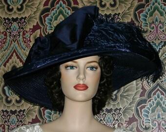 Edwardian Hat, Kentucky Derby Hat, Ascot Hat, Downton Abbey Hat, Tea Party Hat, Titanic Hat, Wide Brim Hat - Lady Adella