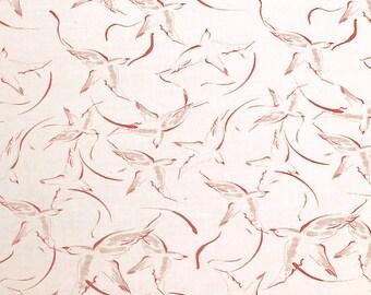 Birds printed cotton Velvet