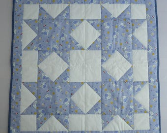 Whale Star Quilt // Baby Quilt