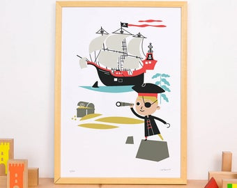 Art Print 'Pirate' A3