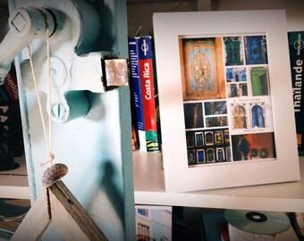 Digital Photo collage World Doors, Moroccan doors, Arabic doors, Indian doors - Birthday gift - Frame, Modern Print