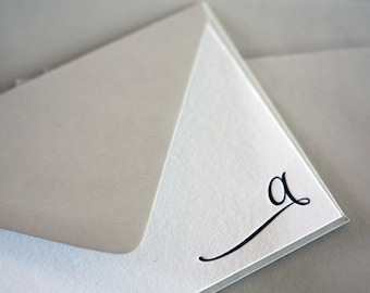 letterpress monogram stationery | elegant