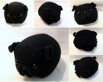 Black Pug Loaf- Medium -Made to Order