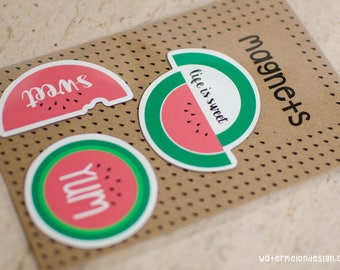 Watermelon Magnets | Set of 3