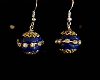 Blue Kashmiri Earrings