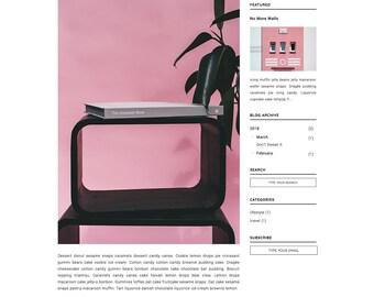 LENORA - Responsive Budget Blogger Theme - Minimalist, Simple, Chic, Retro