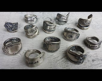 Personalized Vintage Spoon Rings
