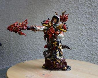 World of Warcraft Tier 12 Paladin - Firelord. 25cm x 25cm x 10cm.  Handmade.