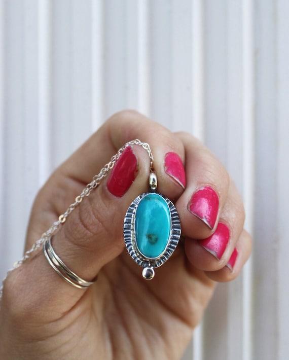 Royston Turquoise Dot Necklace 1