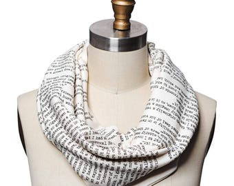 Sherlock Holmes Book Scarf - Infinity Scarf, Literary Scarf, Arthur Conan Doyle, Book Lover, Books, Reading, Teacher Gift