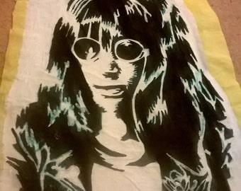 joey Ramone the ramones hand painted punk rock retro punk patch
