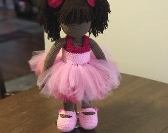 19' inch Crochet Ballerina Doll