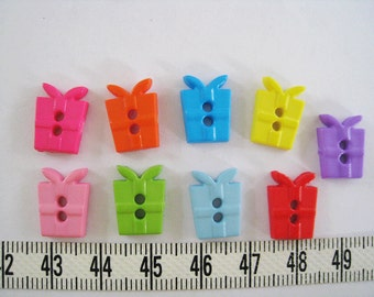 30pcs of  Present Button Gift Box Button - Tiny