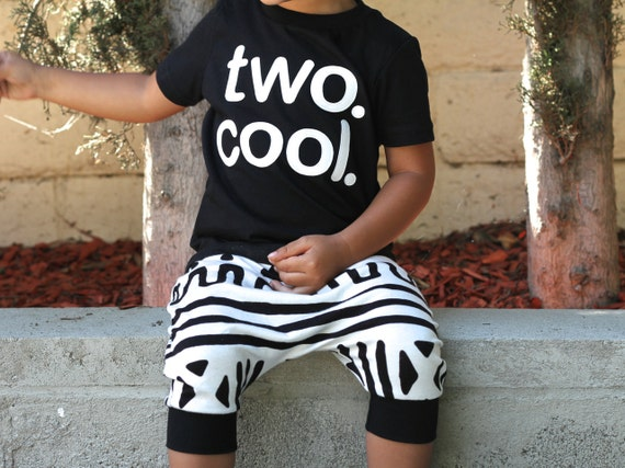 TWO. COOL. Toddler Boy Girl 2nd Birthday Shirt Choose Your