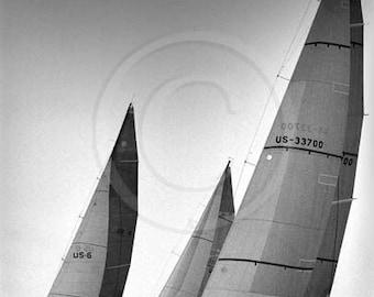 Sailing, Yacht Race, Racing Sailboats, Sailing Art