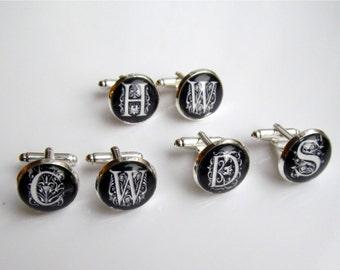 Wedding Cufflinks, Personalized Monogram Cufflinks, Wedding Party, Groomsmen Cufflinks