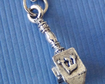 DREIDEL Necklace - Pewter Charm on a FREE Plated Chain