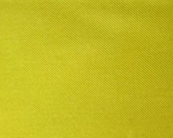"Yellow Polyester Satin Fabric 60"" Wide Per Yard"