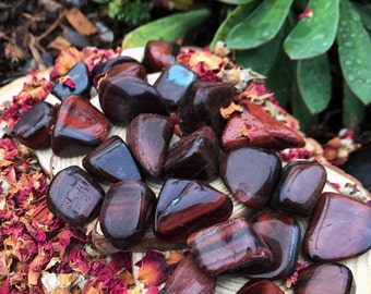 RED TIGER EYE (Grade A Natural) Tumbled Polished Stone Gemstone Rocks for Healing, Yoga, Meditation, Reiki, Wicca, Crafts Jewelry Supplies