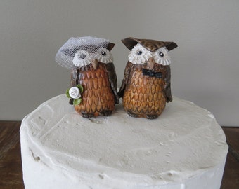 SALE!!!  Wedding Cake Topper Owl