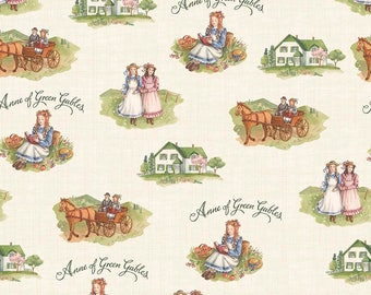 SALE Anne of Green Gables Main Cream - Riley Blake Designs - Penny Rose Fabrics - Quilting Cotton Fabric - choose your cut