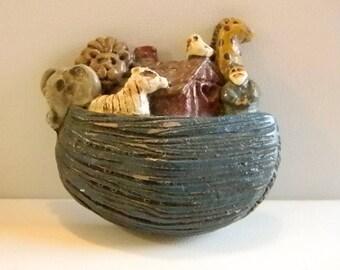 Noah's Ark Animal Pin Brooch