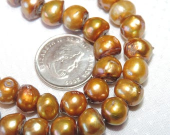 Freshwater Pearls - Antique Copper