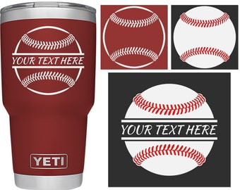 Decals for yeti, baseball, yeti decal, coach gift, decals for yeti cups, yeti decal for woman, yeti cup decal, yeti decal for men, stickers