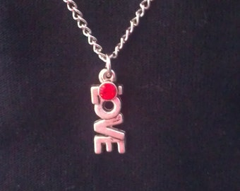 "18"" Doll Jewelry Love Charm Necklace American Doll Accessory Red"
