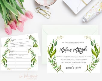 Printable Bridal Shower Invitation /  Shower Invite, Wedding Shower  - Melina
