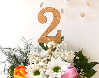 Wedding table numbers - rustic cork table numbers - wooden table numbers - wedding table decor - table numbers - wood table number