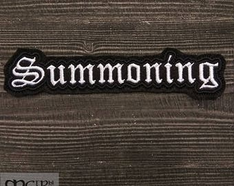 Patch Summoning logo black metal band.