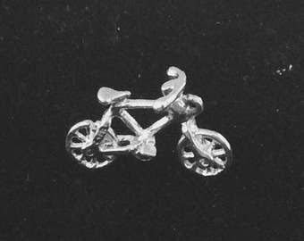 Sterling silver bicycle charm vintage # 189