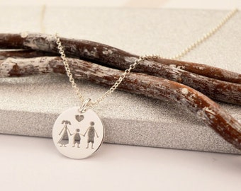 HANDMADE Sterling Silver FAMILY PENDANT, Son Pendant, Family Necklace, My Family Necklace, Made in Italy, Son Necklace