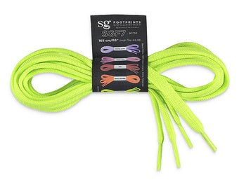 Neon Lime Coloured Laces